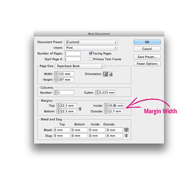 margins new document