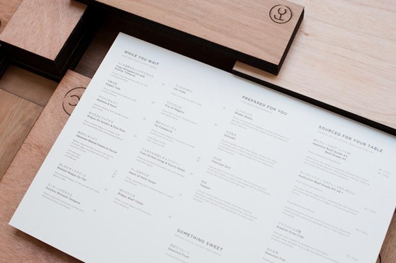fat cow menu design indesign