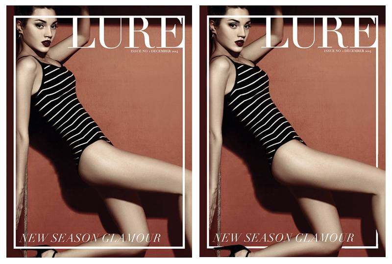 magazine cover design 3D effect before and after