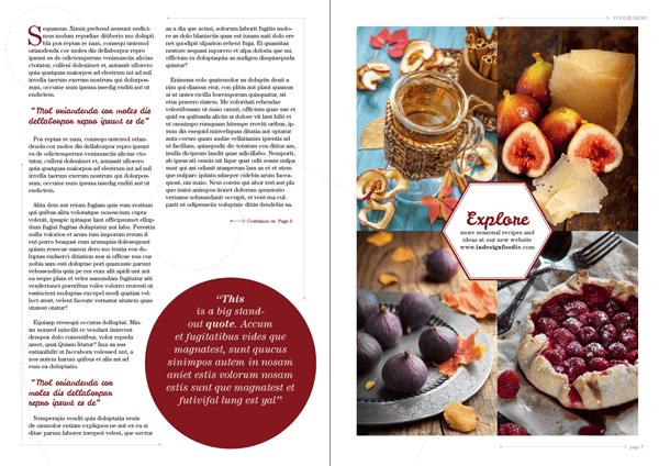 magazine layout design indesign text typography