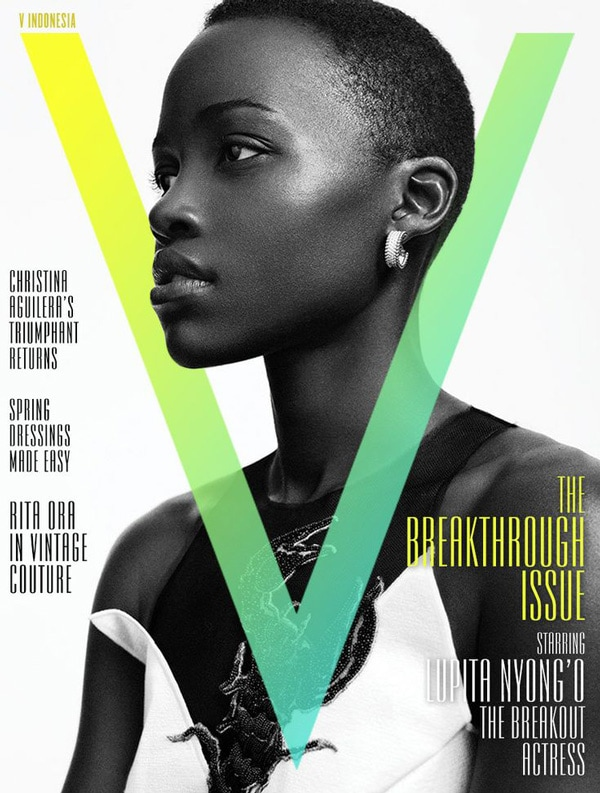 magazine cover design 3D effect v magazine