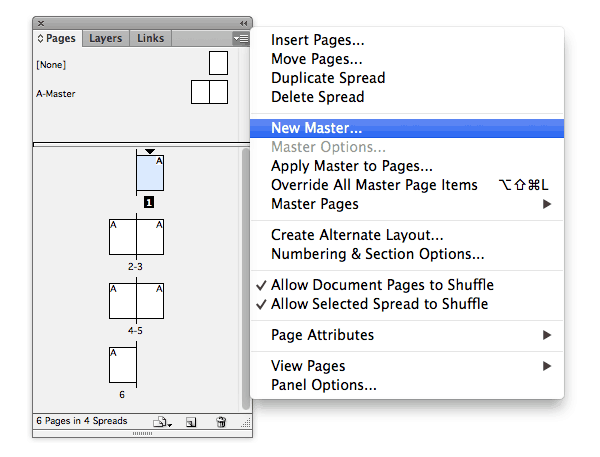 pages panel master pages indesign basics