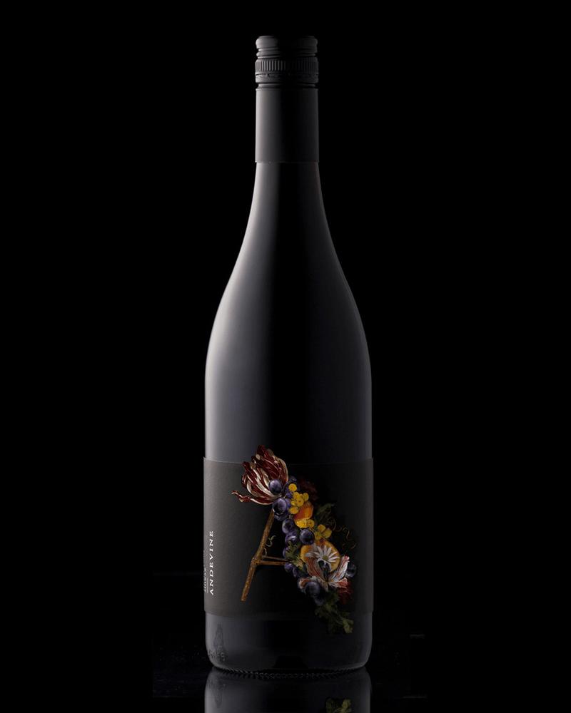 andevine wine label design indesign