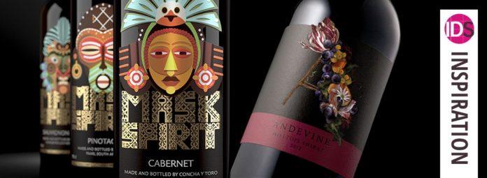 wine drinks bottle label design indesign