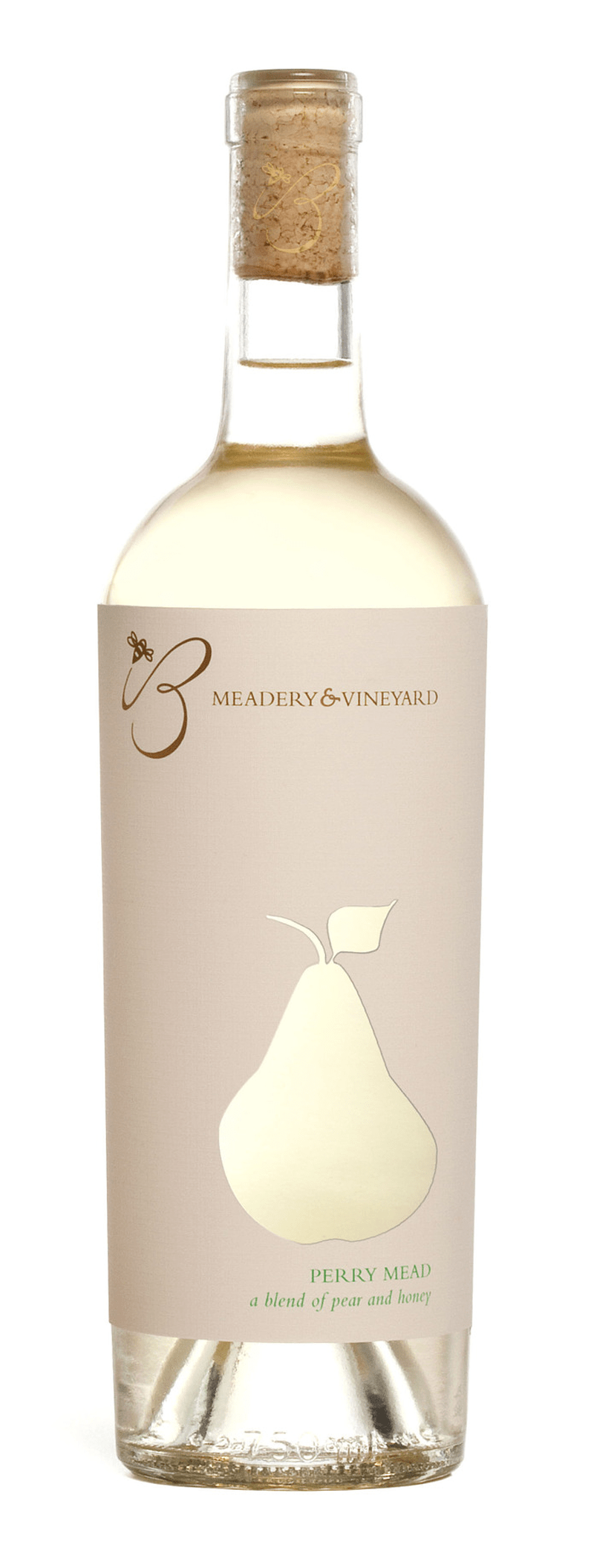 B Meadery and Vineyard wine bottle label design indesign