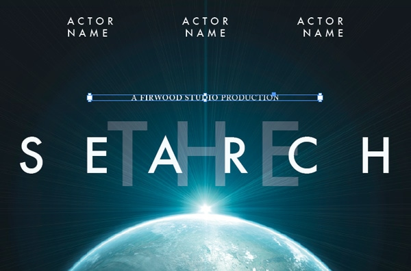 movie poster typography