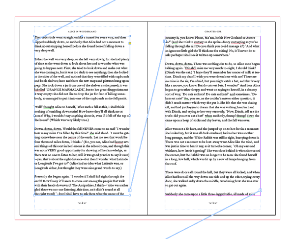 threading text linking text frames text boxes indesign skills book