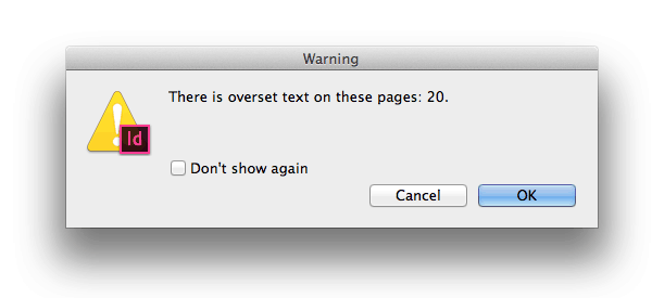 overset overflowing text overflowing text frame