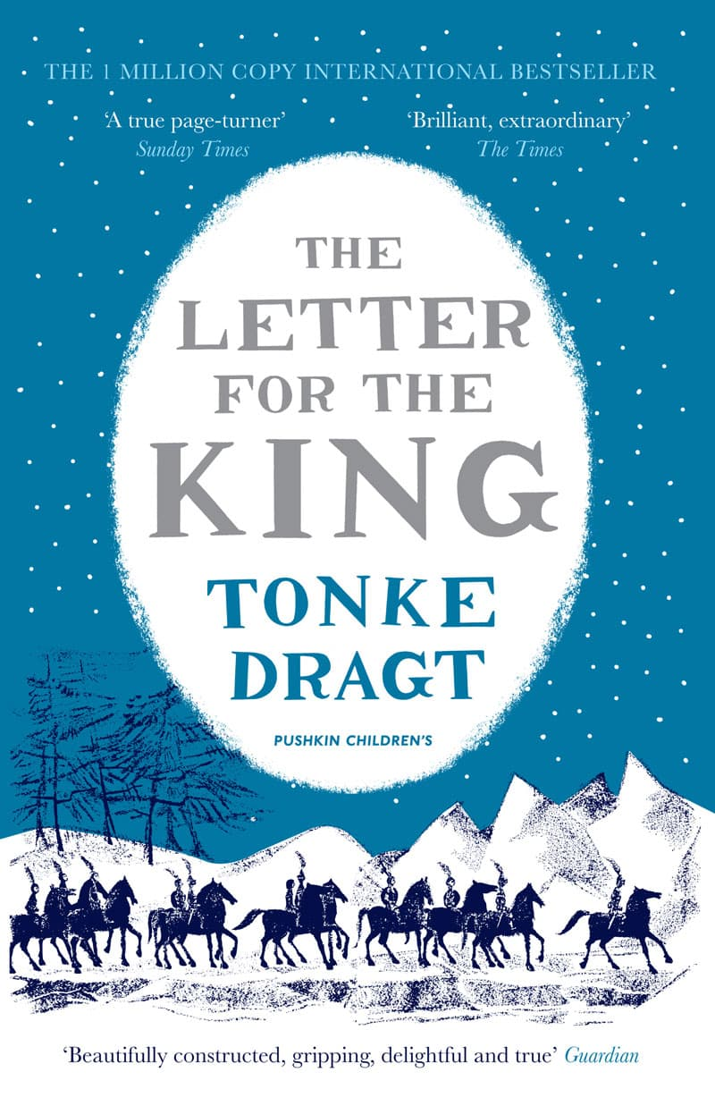 vintage print design book cover pushkin letter for the king tonke dragt winter edition