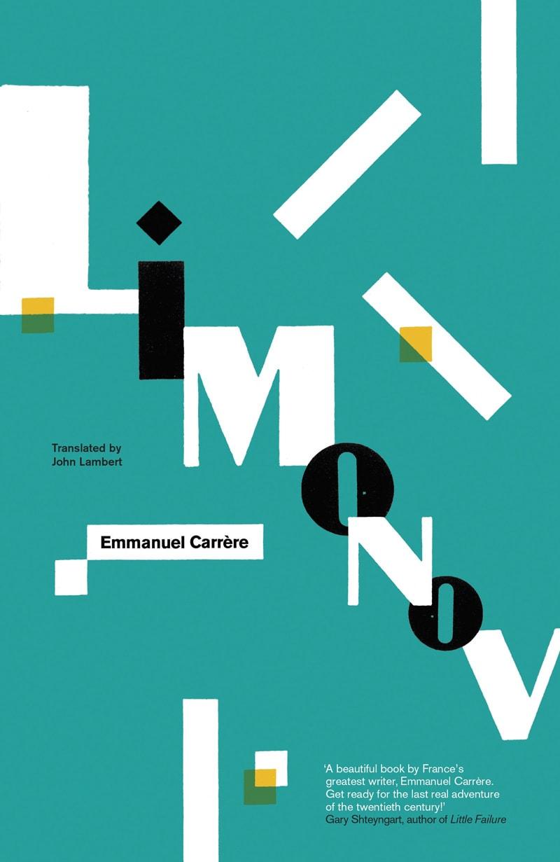 vintage print design book cover richard green limonov emmanuel carrere