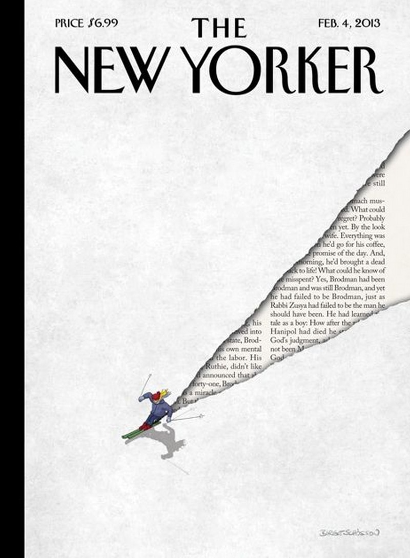 indesign inspiration playful text layered text the new yorker