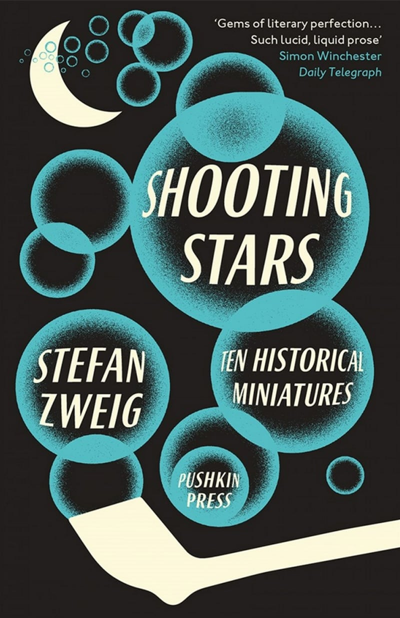 vintage print design book cover pushkin stefan zweig shooting stars