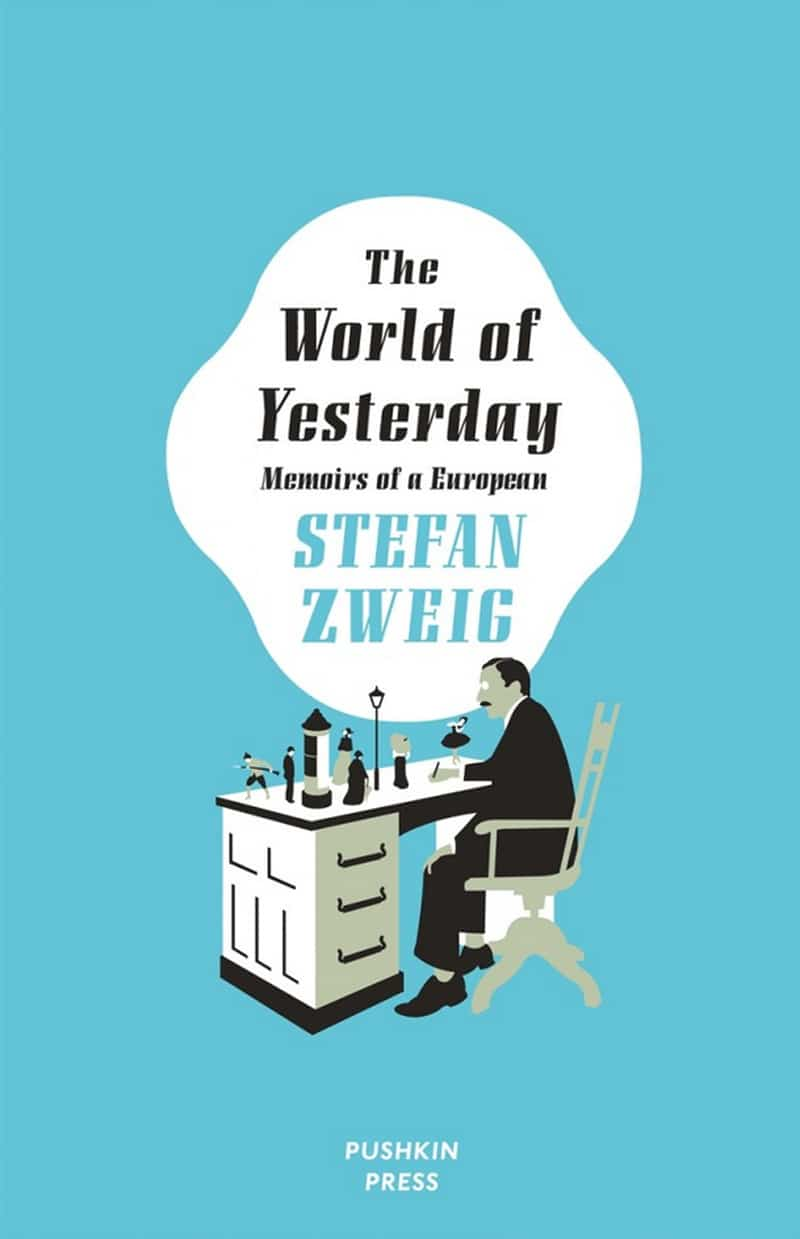vintage print design book cover pushkin stefan zweig the world of yesterday