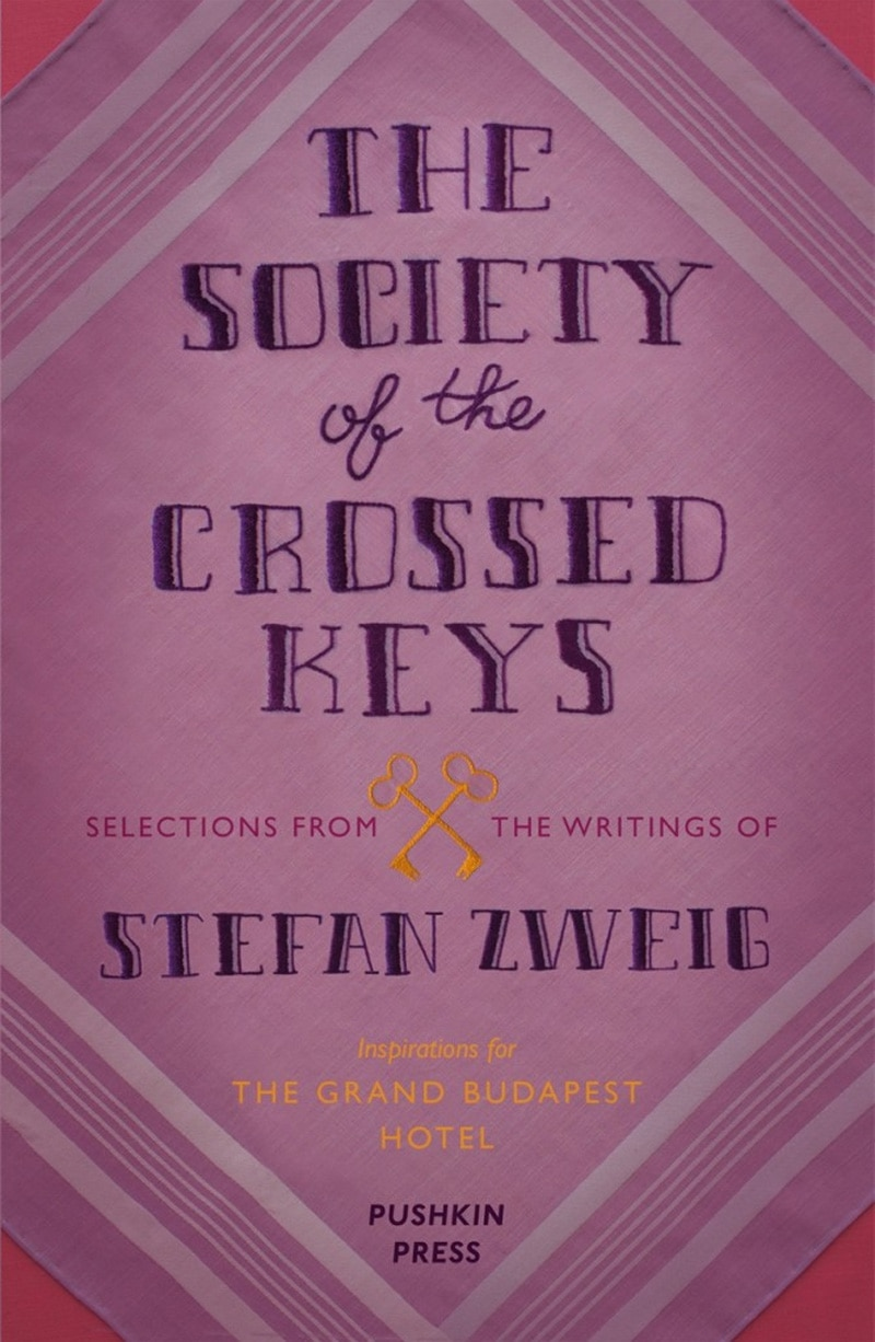 vintage print design book cover pushkin stefan zweig  the society of the crossed keys