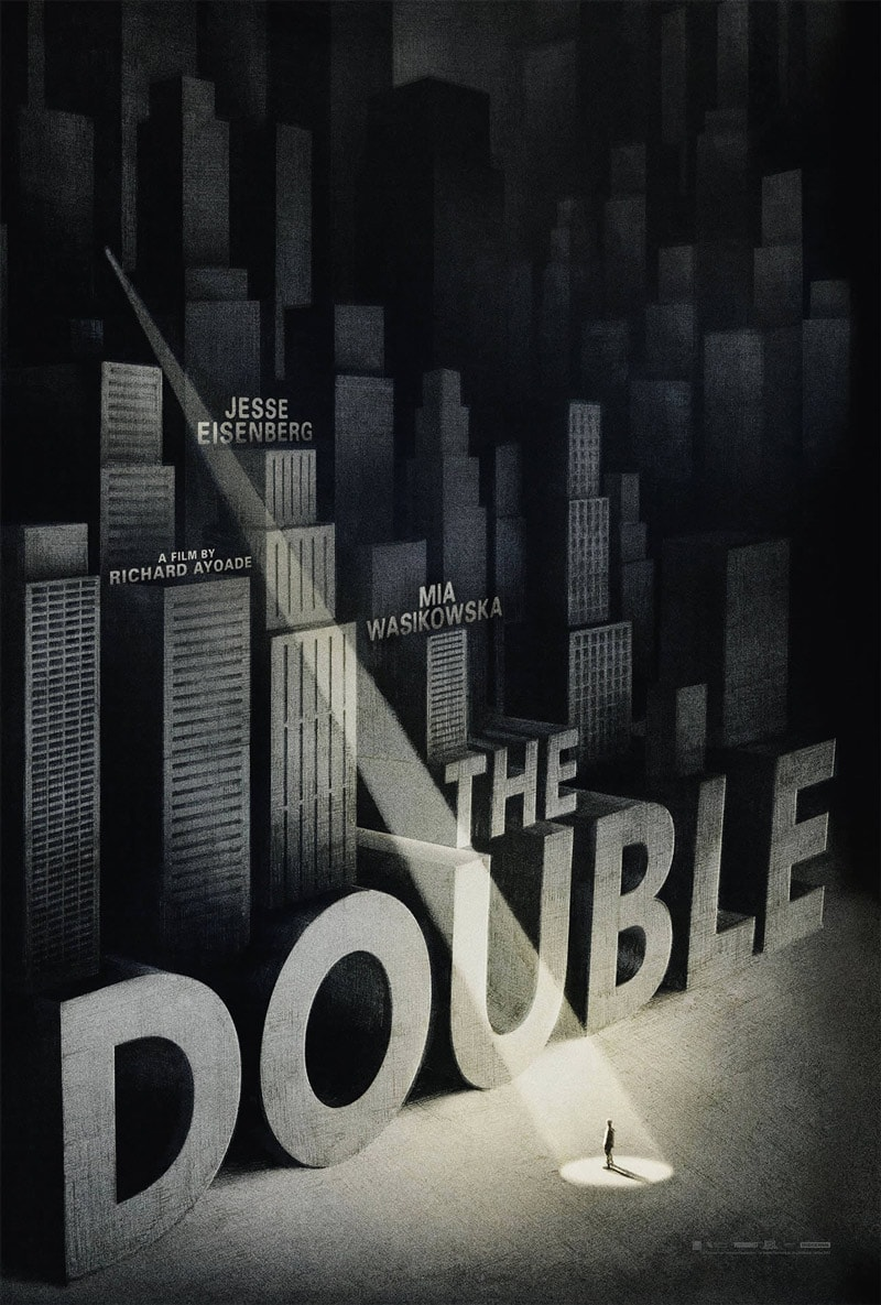 vintage print design the double movie poster empire design