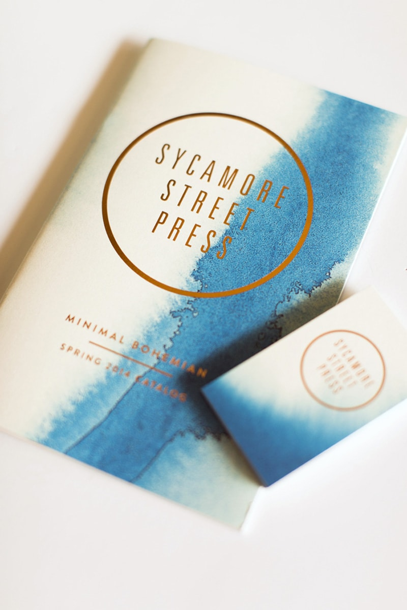 business card design watercolor painterly minimal indesign sycamore street press
