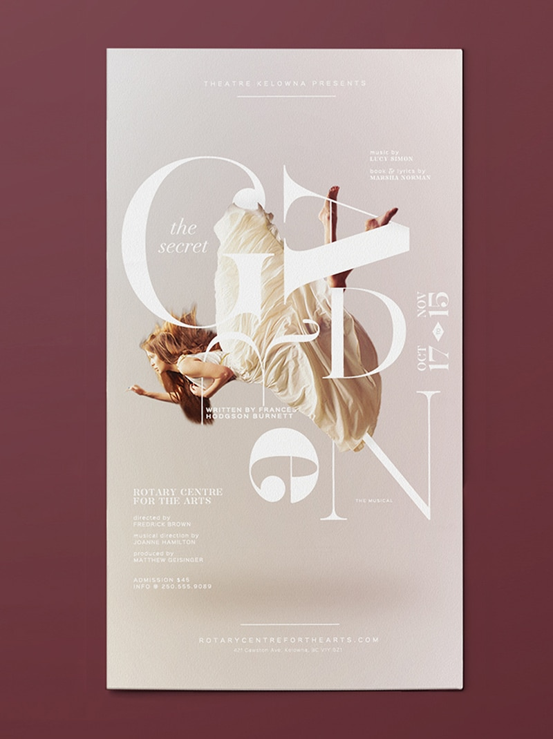 poster design musical theatre indesign secret garden