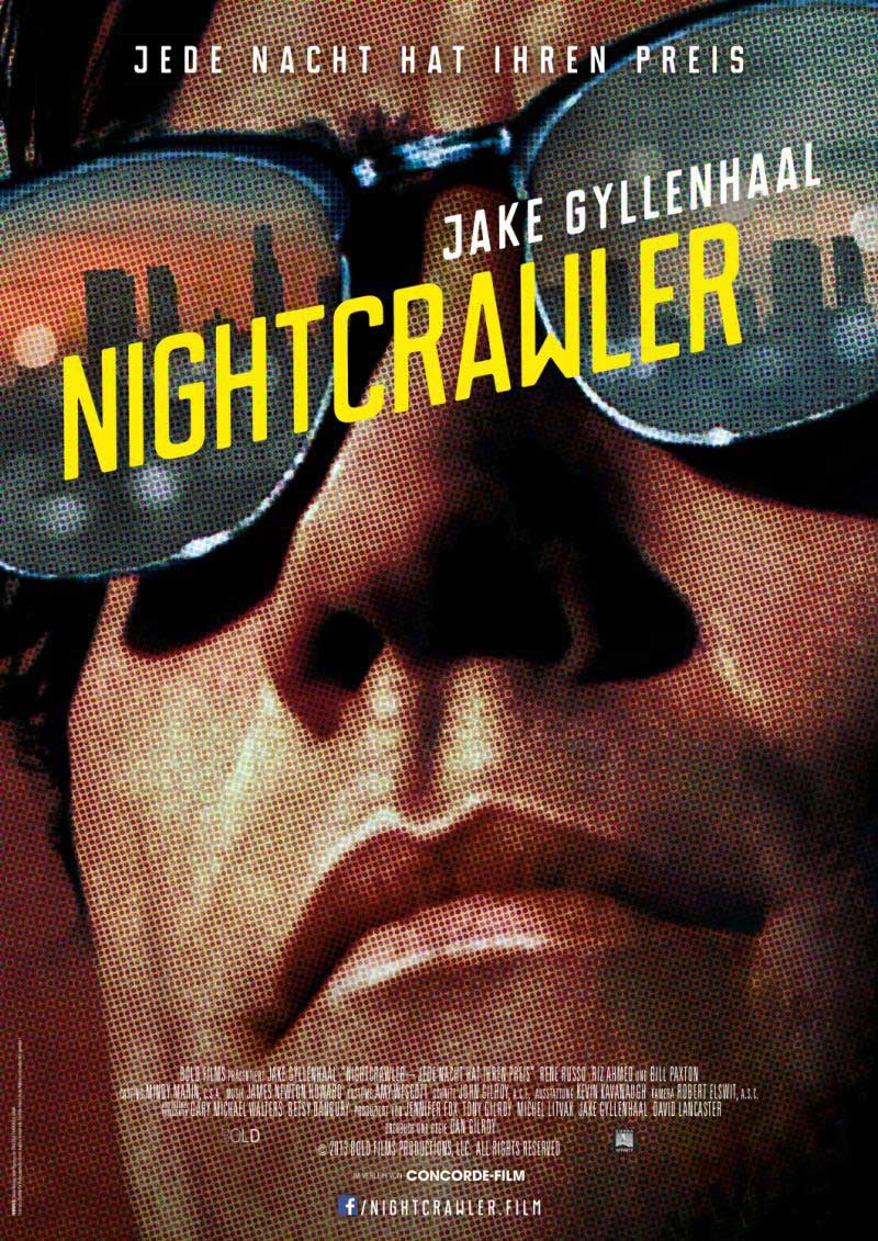 nightcrawler poster design movie indesign