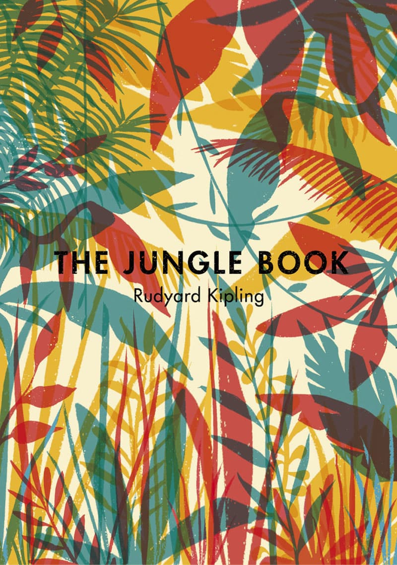 color indesign jungle book vintage print