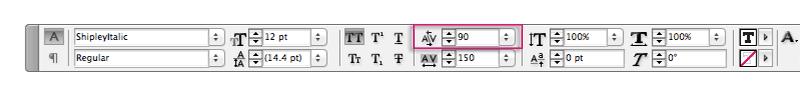 indesign typography kerning