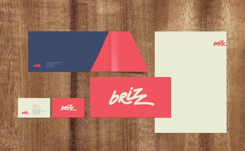 indesign inspiration flat design brand identity brizz