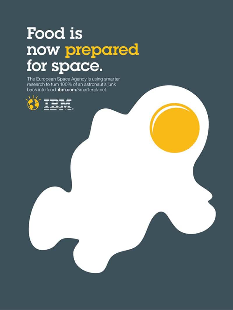 print ad design advertising noma bar IBM