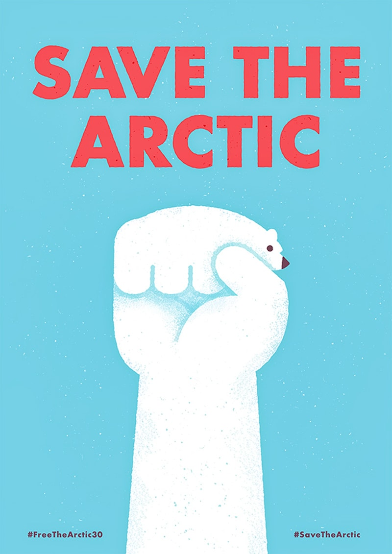 print ad design advertising save the arctic mauro gatti
