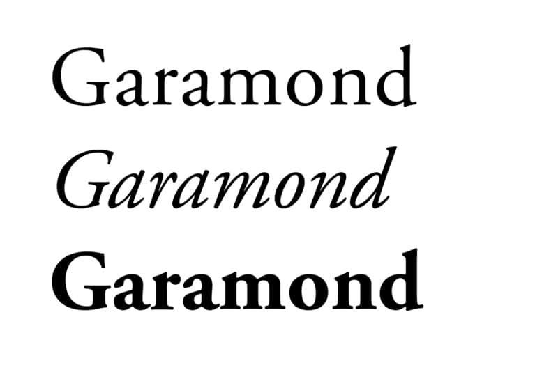fonts for books typesetting novels airport fiction thrillers garamond