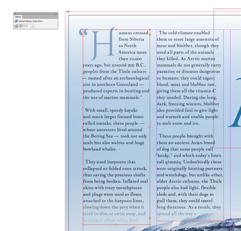 indesign hung punctuation optical margin alignment messy paragraphs typography