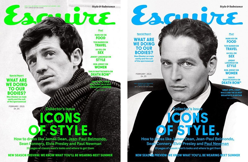 magazine cover fonts fashion lifestyle men's esquire