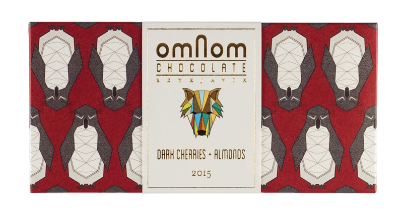 folded origami graphic design indesign packaging design omnom chocolate