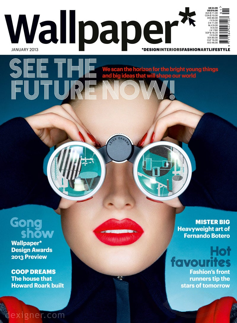 magazine cover fonts lifestyle design interiors technology wallpaper