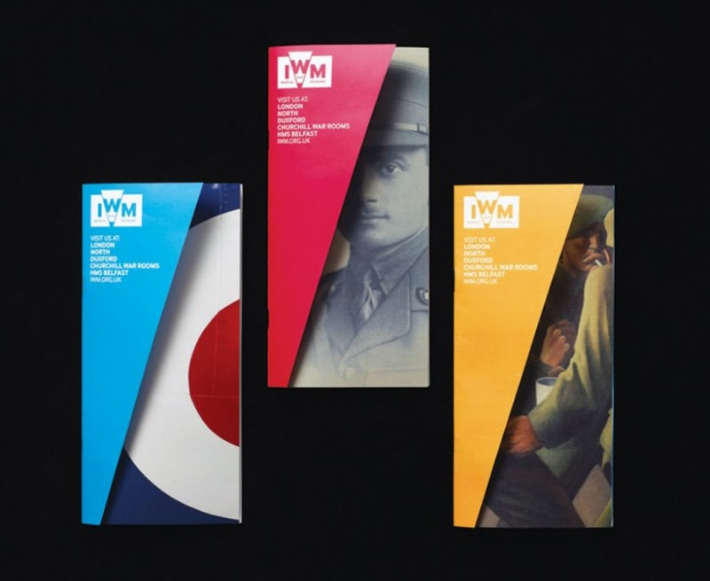 folded origami graphic design indesign brochure branding imperial war museum hat-trick