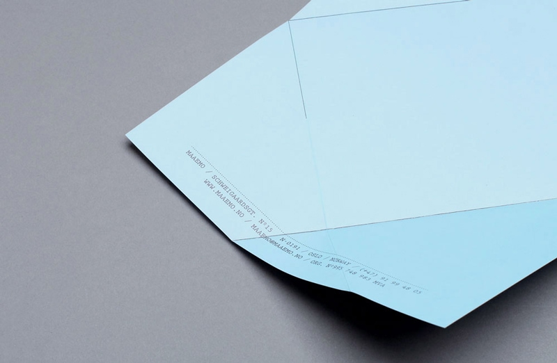 folded origami graphic design indesign menu maaemo bureau bruneau