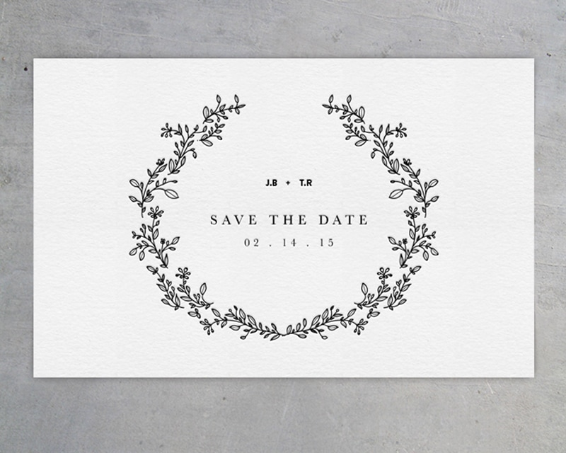 wedding invitations invite stylish unique modern beautiful design black and white monochrome cocorrina