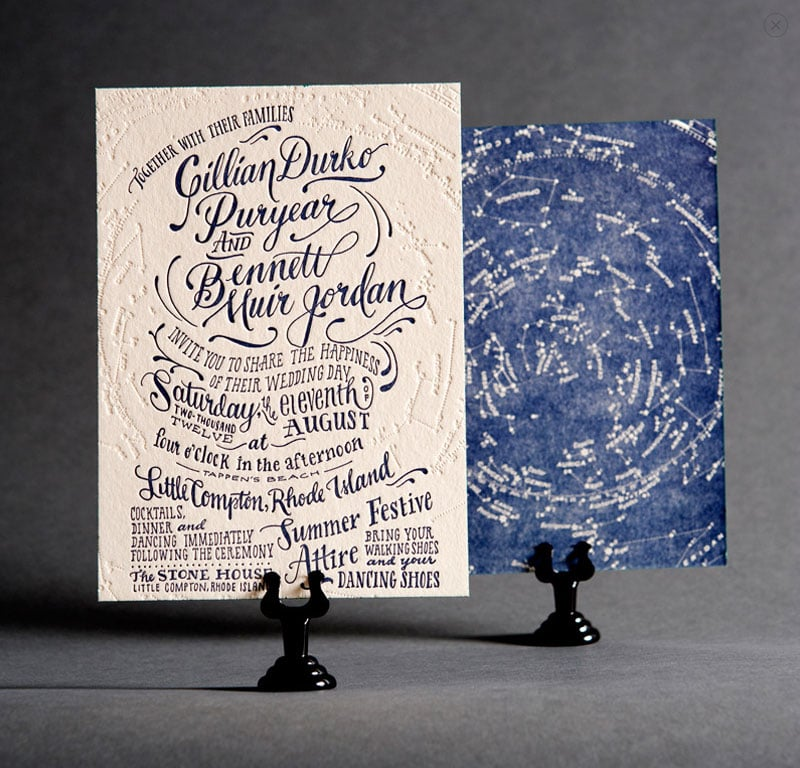 wedding invitations invite stylish unique modern beautiful design ladyfingers letterpress