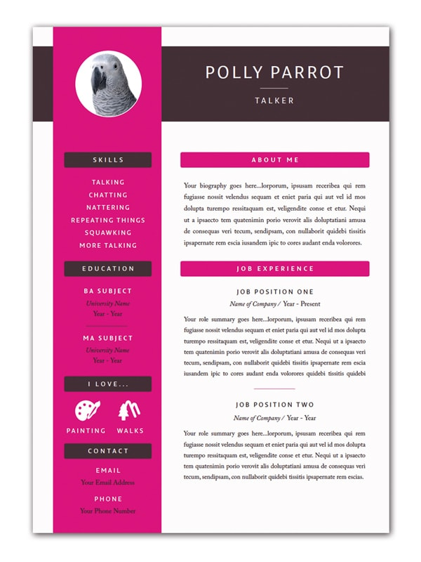 resume indesign template free indesign templates 35 beautiful templates for indesign 24361 | Mock up white