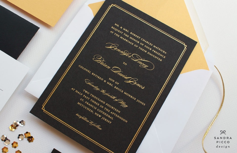 Art Deco Wedding Invitation with adorable invitation ideas
