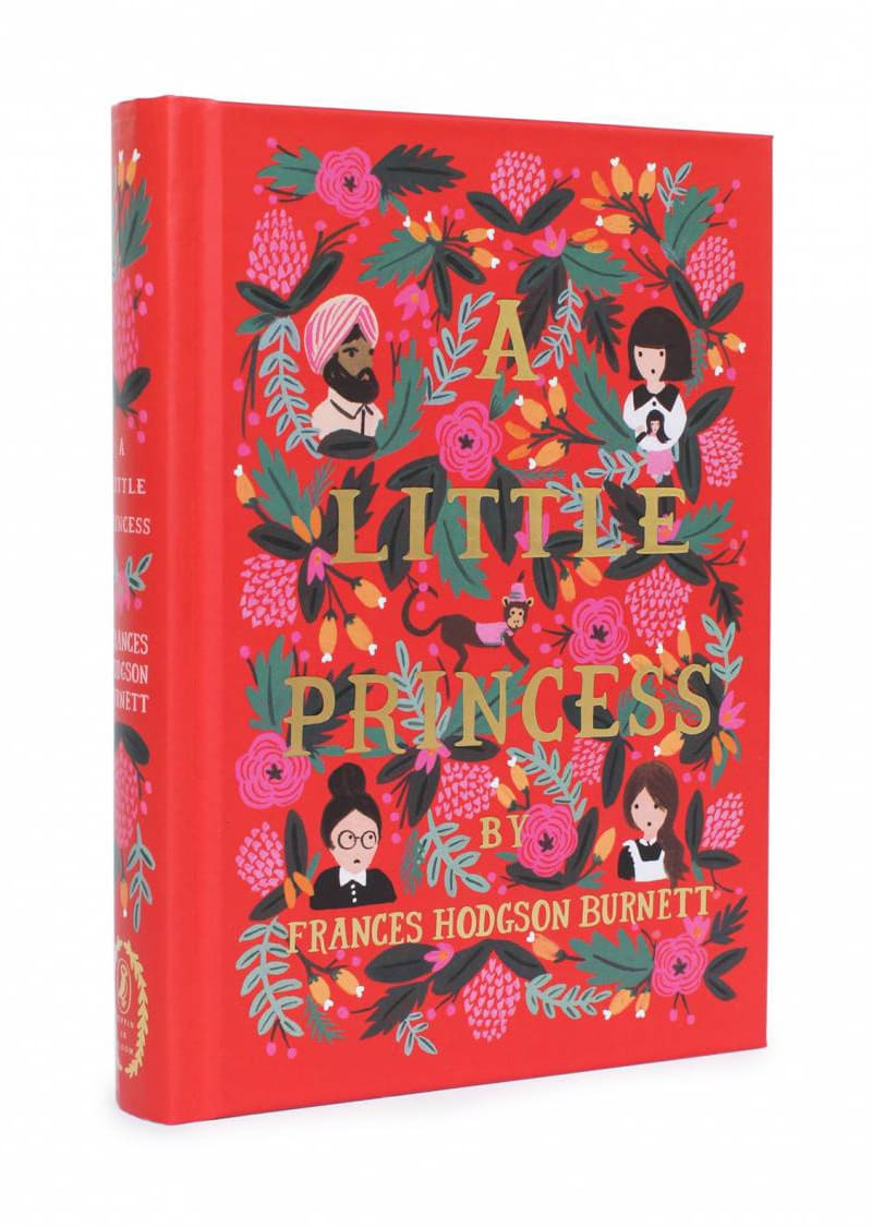a little princess classic book cover design modern twist redesigned puffin anna bond rifle paper co in bloom