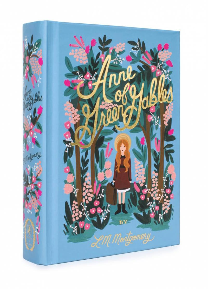 anne of green gables by l. m. montgomery classic book cover design redesigned puffin anna bond rifle paper co in bloom