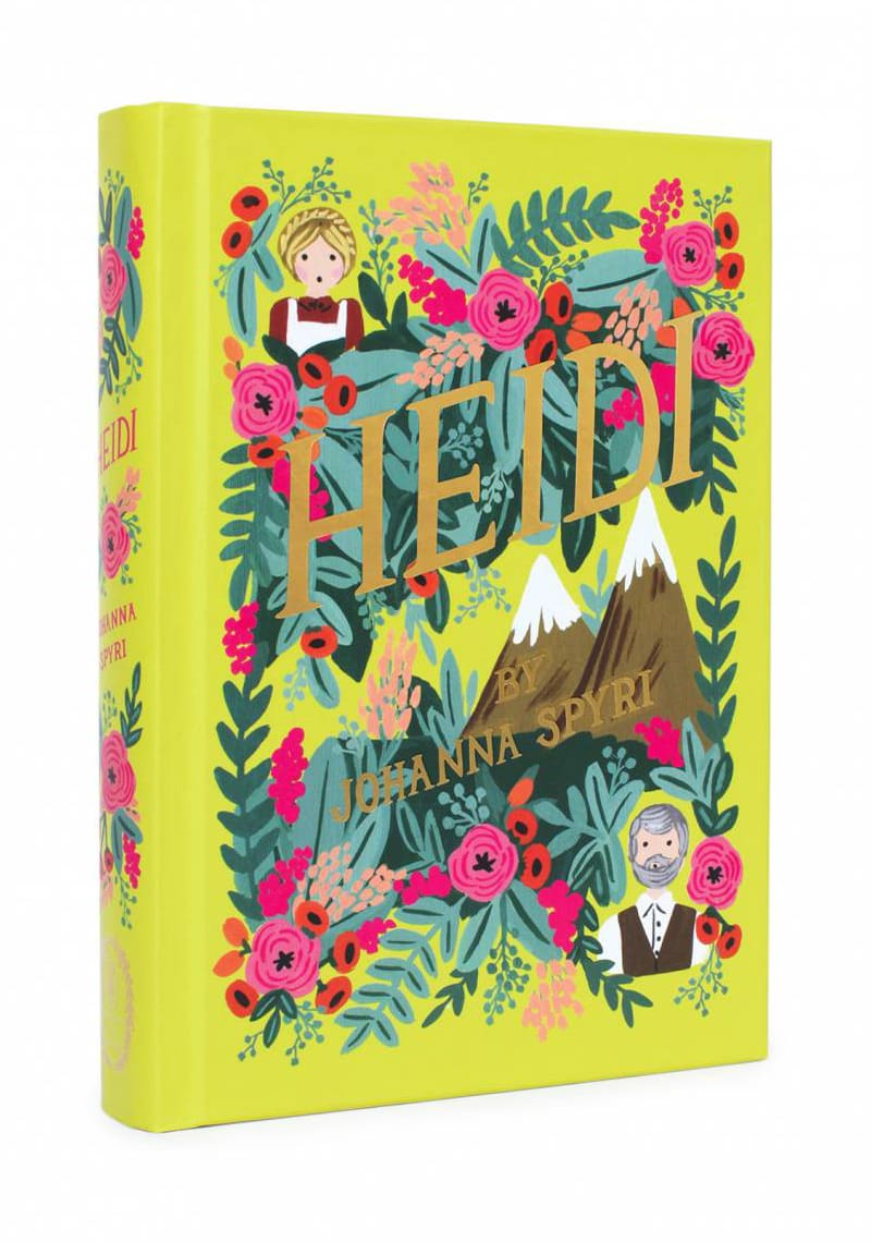 heidi by johanna spyri classic book cover design modern twist redesigned puffin anna bond rifle paper co in bloom