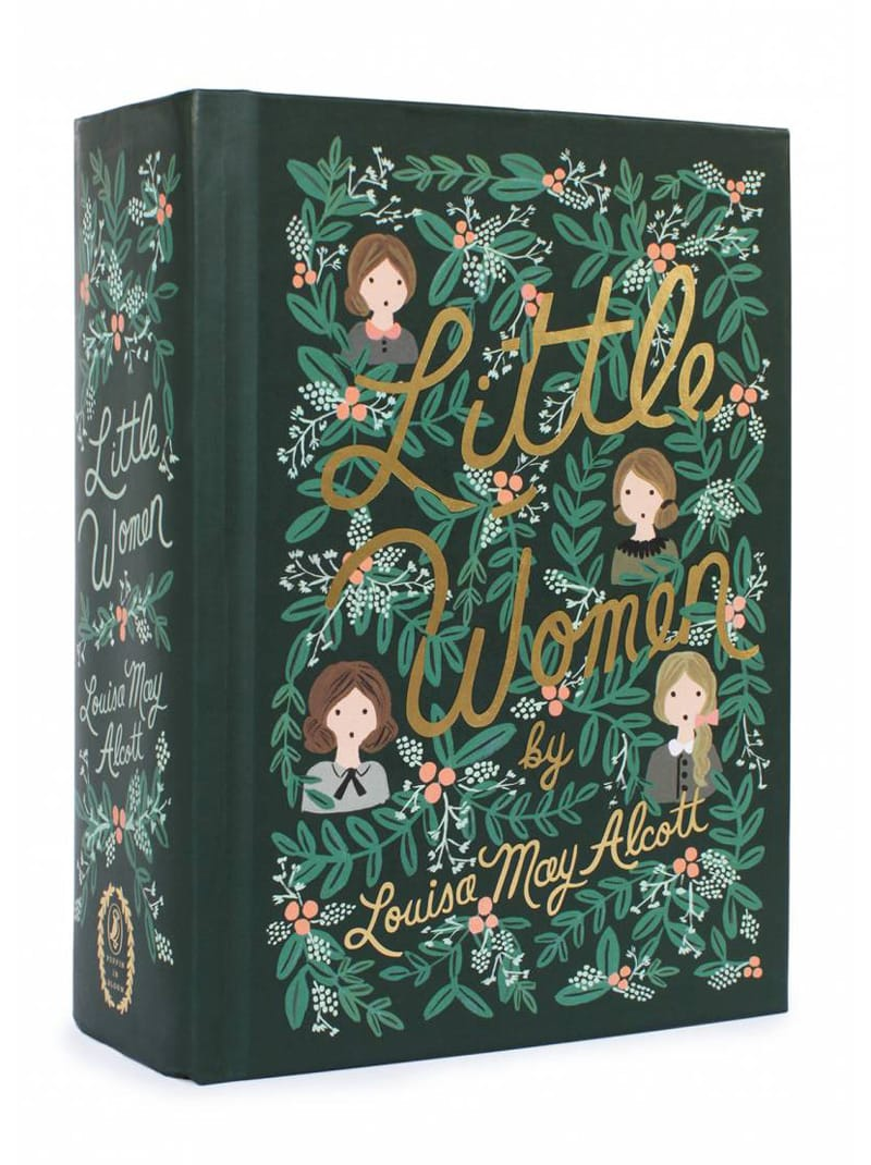 little women louisa may alcott classic book cover design redesigned puffin anna bond rifle paper co in bloom
