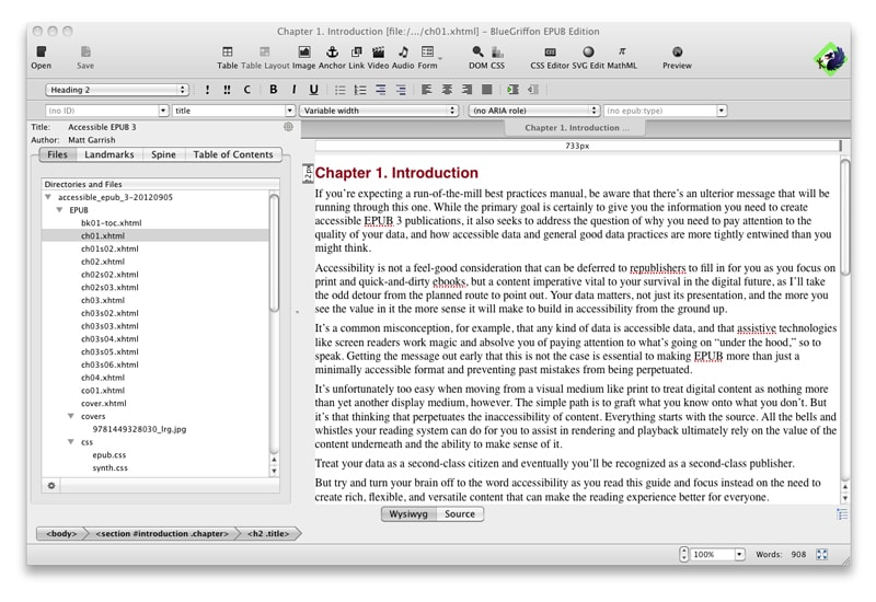 EPUB eBook eMagazine digital publishing design Adobe Bluegriffon