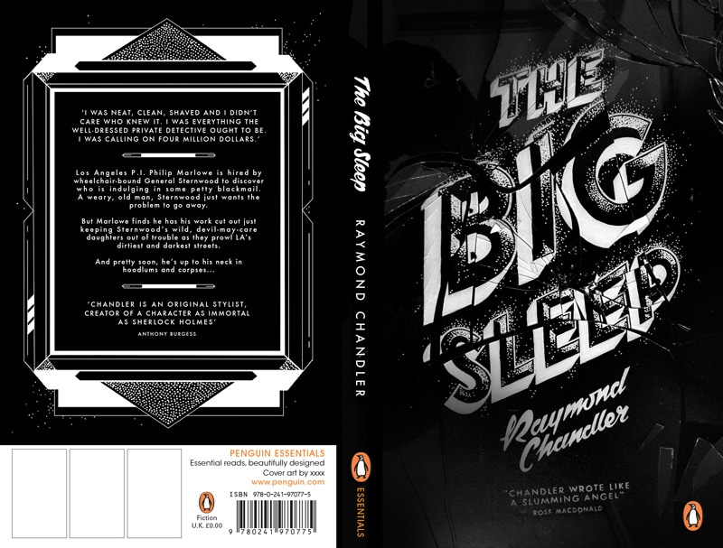 classic book cover design modern twist redesigned penguin essentials the big sleep