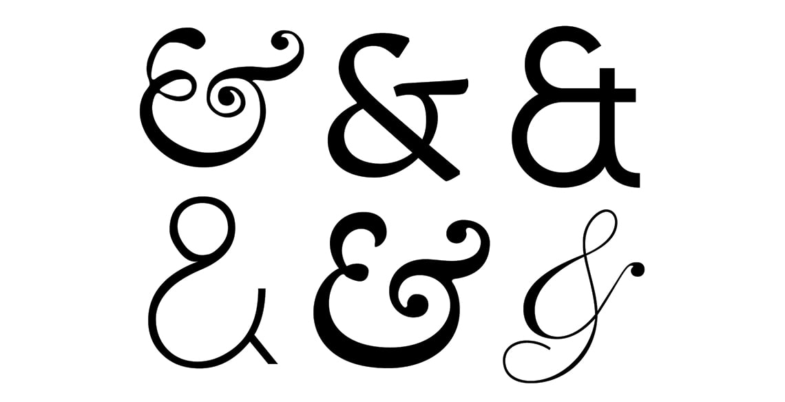 Fonts with the Best Ampersands - The Best '&'s