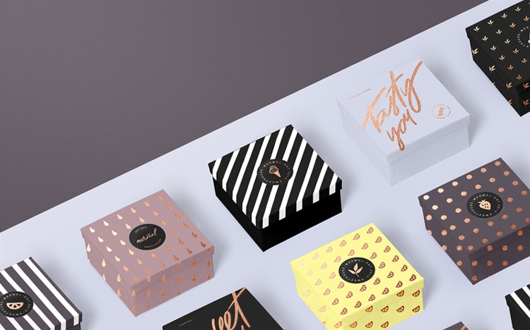 indesign inspiration food packaging design marmel sweets confectionery bakery france logo branding