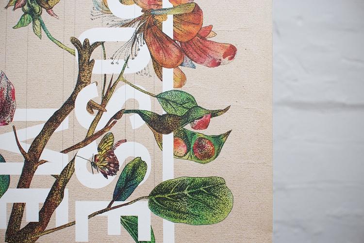 botanical graphic design flowers vintage packaging branding inspiration shopping bag paper bag brown bag beautiful