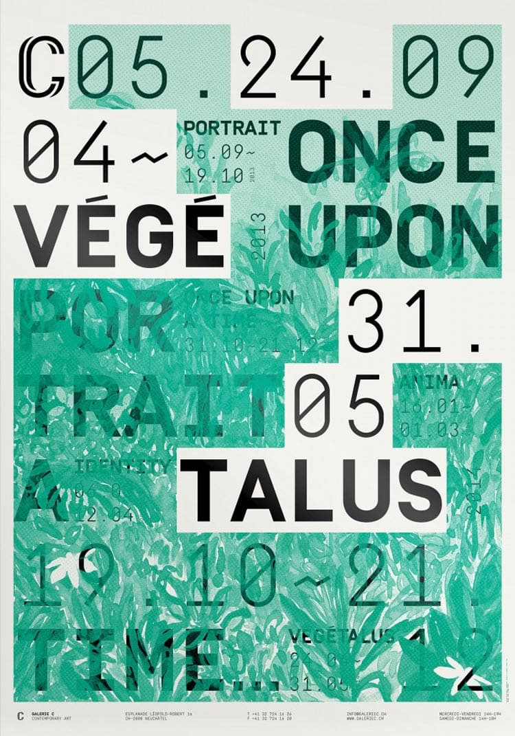 olab galerie c screen printing exhibition poster design typography