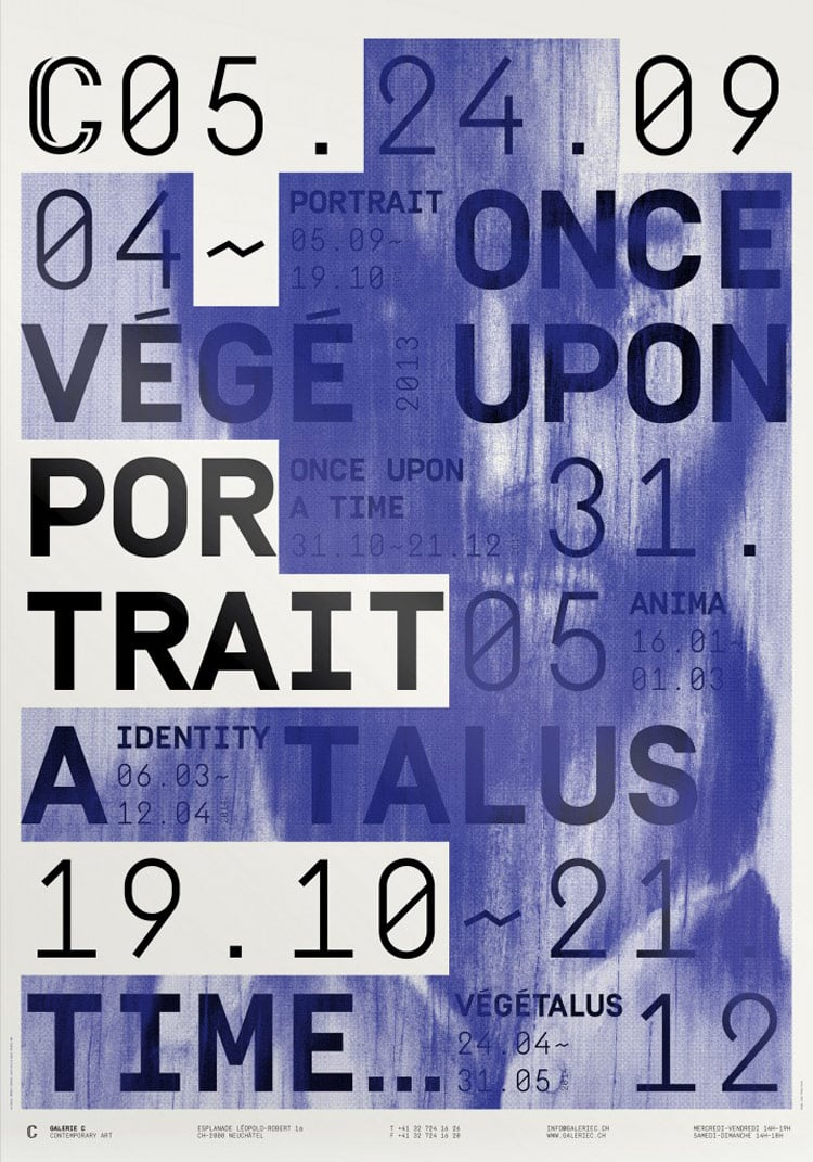 Poster design and printing -  Olab Galerie C Screen Printing Exhibition Poster Design Typography