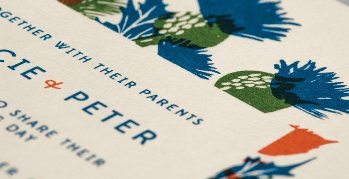 letterpress screen printing vintage retro